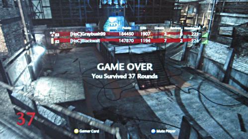 Level 37! Level 37! Level 37!: Blackwalt wins on headshots!