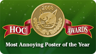 Most Annoying poster of 2008