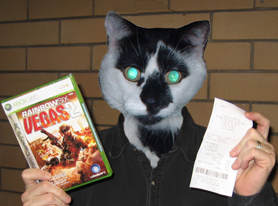 Yes a deer in headlights: but a deer with his early copy of Vegas 2