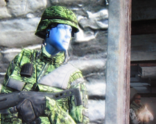 Angelina is sad: because of her glowing camouflage?
